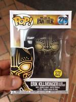 Black Panther - Erik Killmonger GLOW GITD  Funko Pop Vinyl New in Mint Box