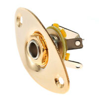 Oval Electric Guitar Bass Output Jack Socket light Gold New guitar parts