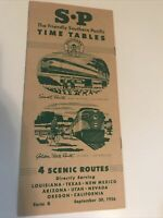 1956 Southern Pacific Lines TimeTable Golden State Sunset Route Streamliners