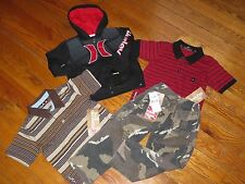 NWT HURLEY & QUIKSILVER 3/3T SURF LOGO JACKET, PANTS  & SHIRTS OUTFIT SETS $134