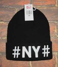 Mens # NY # Beanie Hat black One Size Ecko Unltd