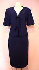 CLEARANCE Authentic CELINE Paris Deep Purple Pencil Skirt Jacket Suit UK 14
