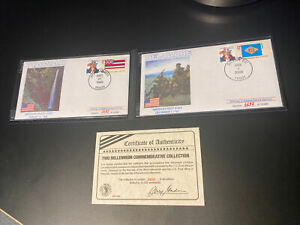Two Millennium Commemorative Collection -Hawaii and Delaware First Day Covers