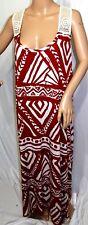 Jennifer Lauren Plus Size 3x Maxi Long Rust Brown Aztec Summer Sun T Shirt Dress