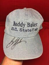Vtg Buddy Baker Personal Autographed S. Carolina State Fair Hat NASCAR Racing