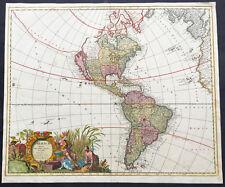 1710 Gerald Valck Large Original Antique Map of America - Island of California