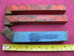 3 ENGINEERS BRAZED TUNGSTEN CARBIDE TURNING TOOLS