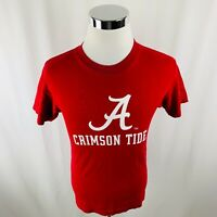 Alabama Crimson Tide Roll Tide Red Short Sleeve T-Shirt Mens Small S