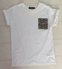 Mens Topman, White Short Sleeved Cotton T-Shirt, Size S