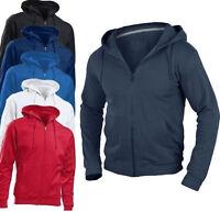 Hanes Mens Tagless® Organic Cotton Plain Full Zip Hooded Sweat Hoodie Jacket