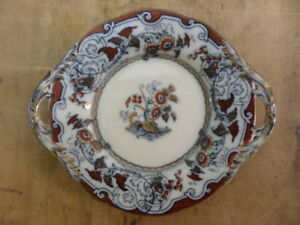 SMALL HANDLED PLATE by PINDER BOURNE & HOPE - VICTORIAN - BALTIC PATTERN 2850