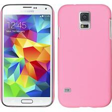 Coque Rigide Samsung Galaxy S5 mini - gommée rose + films de protection