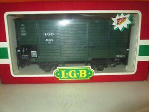 LGB 4135 S Sound Car Boxcar Green G Scale Train in Original Box