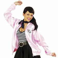 Ladies Pink Lady Jacket 50's 1950's Frenchie Rizzo Womens Fancy Dress Costume
