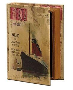 Medium Hollow Book Secret Storage Box - Safe Keepsake Fake Book of RMS Majestic
