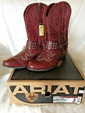 NEW 9.5 B Ariat Women's Boots $199 ATS Epic Redwood Motorcycle Biker Boots Studs