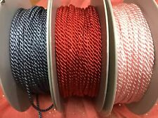 """Twisted Cording 1/8"""" Rayon Cord 3yds Made in France 3mm"""