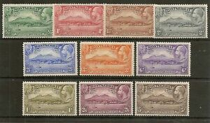 MONTSERRAT 1933 TERCENTENARY SG84/93 LIGHTLY HINGED