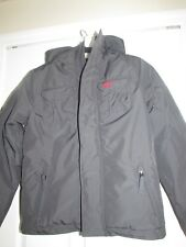 Abercrombie & Fitch AF Kids Boys XL X-Large Grey Hoodie Sherpa Jacket Coat Parka