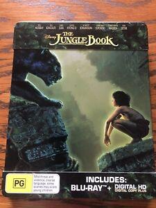 The Jungle Book (2016) Blu ray Steelbook Like New