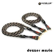 ViaBlue 2x 5,00m SC-4 Bi-Wire T6s Banana HIGH END Lautsprecherkabel / 5 5,0/ TOP