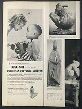 1956 Vintage Ad for Sea & Ski Suntan Cream