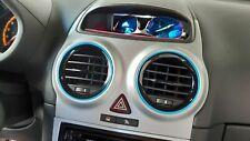 Opel Corsa D farbige 3D Lüftungsringe + Schaltknaufring