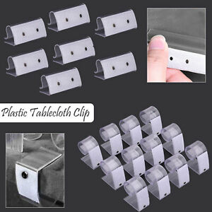 12pcs Set Tablecloth Table Cover Plastic Transparent Clip Holder for Table Skirt