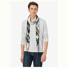 HERMES Losange GM Diamond beige navy horse stripe cashmere silk wrap scarf jay z