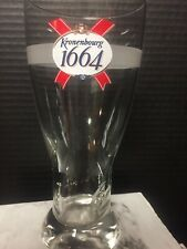 Beautiful Kronenbourg Embossed 1664 Pint Glass Beer Euro Pale Lager France w Box