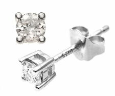 Naava 9 ct Yellow Gold 0.25ct IJ-I2 Diamond Stud Earrings - (PE01862W)