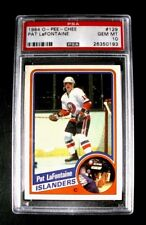 1984-85 O-PEE-CHEE #129 Pat LaFontaine NEW YORK ISLANDERS Rookie Card ~ PSA 10