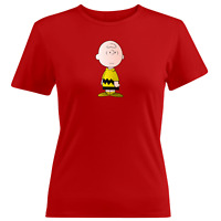 Juniors Girl Women Tee T-Shirt Gift Charlie Brown Peanuts Snoopy Comics Classic