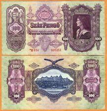 Hungary, 100 Pengo, 1930 (1944-1945), P-112, WWII, aUNC   Rare