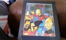 Limited Edition Simpsons Cartoon Print  Star Trek The Next Generation