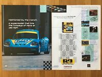 Ridge Racer 4 R4 PS1 Playstation 1 1998 Vintage Poster Ad Art Racing Retro Rare