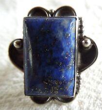 Vintage LAPIS LAZULI RING *Gorgeous Large Stone* Size 6.5 * 10.1 Grams* Sterling
