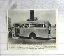 1955 Mobile Public Telephone Unit To Meet Emergency Needs