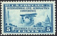 #650 XF MNH OG-5c Aeronautics Conference Issue BIG GEM STAMP (REM #650-5)