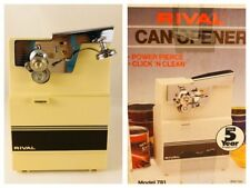 1970's Vintage Rival Electric Can Opener Model 781 Almond, New In Box!