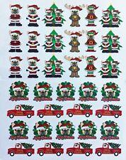 Fawn French Bulldog Christmas Vinyl Stickers