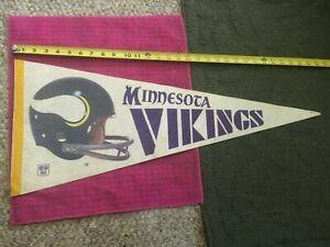 Vintage - Minnesota Vikings Full Size NFL football Pennant Helmet - FAST SHIPPER