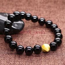 Mens 8mm Tourmaline Classy Mens Energy Beaded Yoga Bracelet Prayer Mala Bead Y23