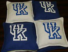 UNIVERSITY OF KENTUCKY. (UK) CORNHOLE BAGS SET OF 8   NCAA  HANDMADE      NEW
