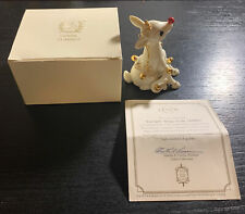 VTG LENOX RUDOLPH THE RED NOSED REINDEER PORCELAIN ORNAMENT GOLD TONE ACCENTS