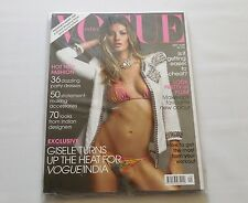 Gisele Bundchen Vogue India + Trend Report Supplement September 2009 Sealed