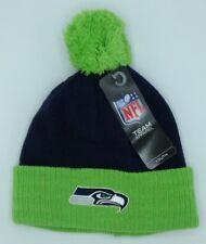 d35eca83a6d NFL Seattle Seahawks Youth Cuffed Pom Winter Knit Hat Cap Beanie NEW!