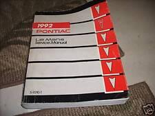 1992 GM Pontiac LeMans LE MANS Factory Service Repair Shop Workshop Manual OEM