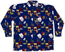 Las Vegas Long Sleeve Casino Shirt, Navy, Big 5X
