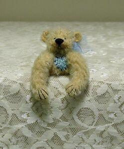 Deb Canham - Teddy Bear Pin - Happy Birthday Pin -  Mohair